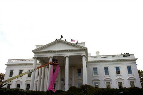 Американский Белый дом стал розовым