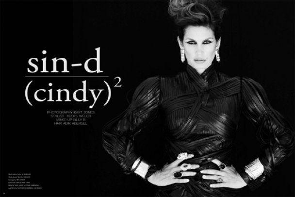 Суровая Синди Кроуфорд для журнала Bullett