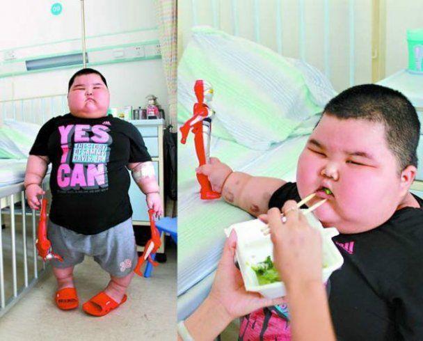 У Китаї трирічний хлопчик-гігант важить 60 кг