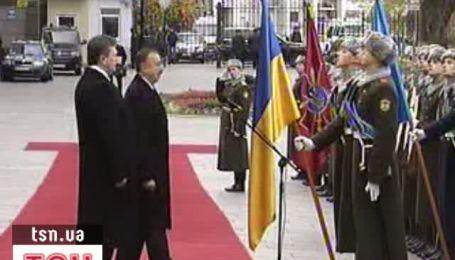 В Киев прибыл президент Азербайджана