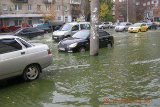 Центр Киева затопило кипятком
