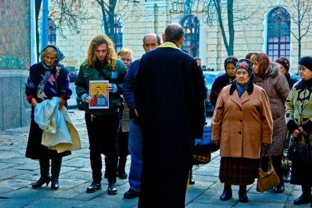 У Києво-Печерській Лаврі освятили ікону із зображенням Сталіна