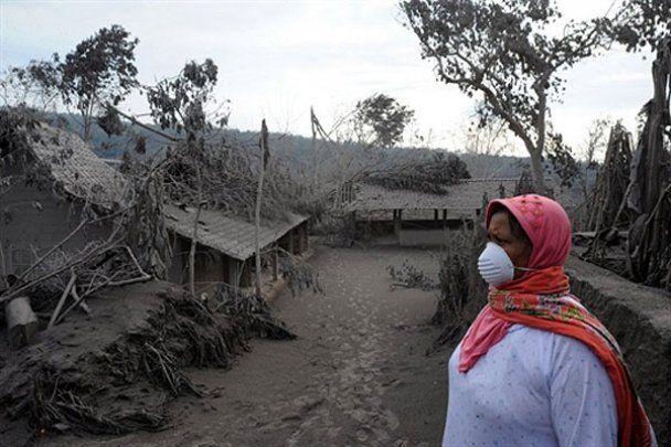 Виверження вулкана Мерапі в Індонезії