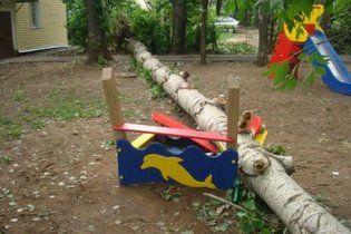 На Винничине на детскую площадку упало дерево: госпитализировано 5 детей и учительница