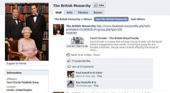 "Facebook ""Британська монархія"""