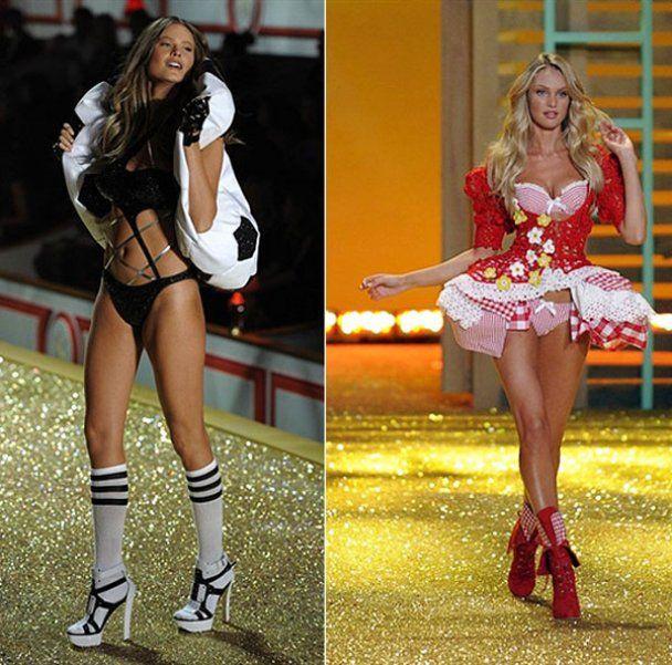Модели-ангелы на показе Victoria's Secret в Нью-Йорке