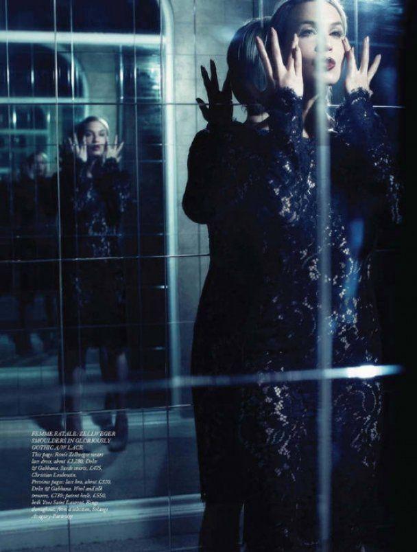 Гламурная фотосессия Рене Зельвегер для Harper's Bazaar