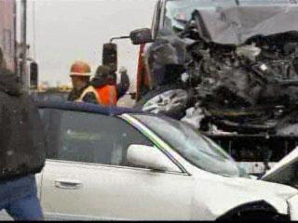 В США 34 автомобиля столкнулись в ДТП (видео)