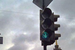 В России появились светофоры с коноплей