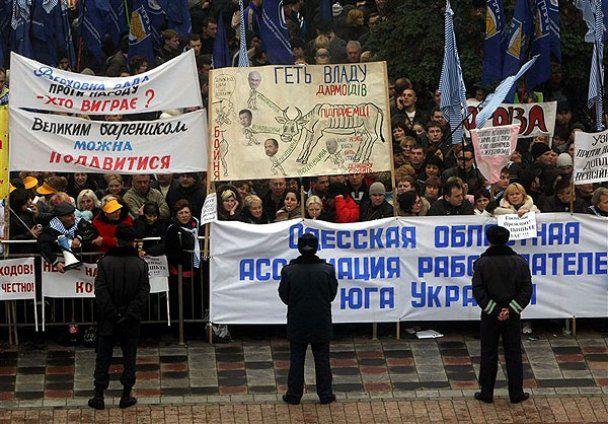 Міліція готова розганяти мітингуючих підприємців