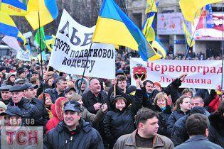 Міліції не вдалося вигнати мітингувальників з Майдану