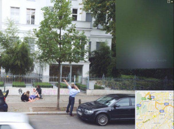 Google Street View заснял рождения ребенка на улице