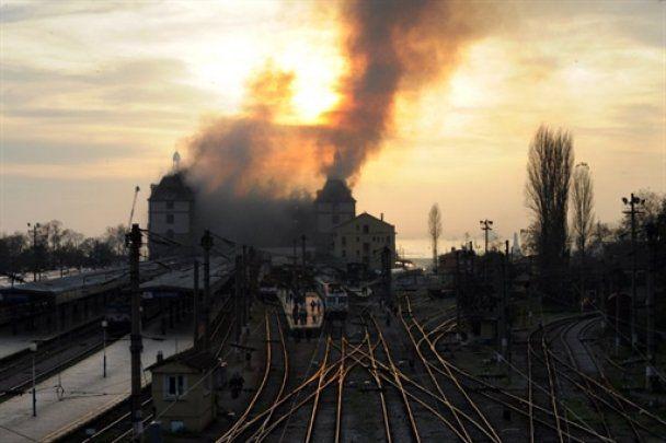 У Стамбулі згорів старовинний вокзал