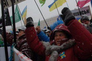 На Майдане произошла стычка между пикетчиками