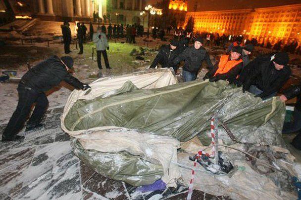 Ліквідація наметового містечка на Майдані у Києві