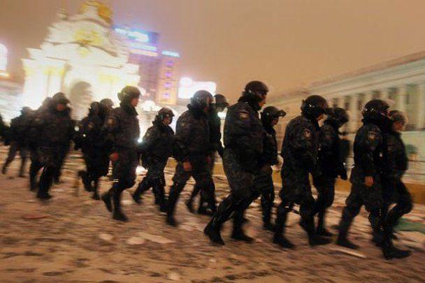 Ликвидация палаточного городка на Майдане в Киеве