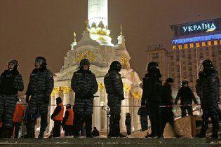 На Майдані у Києві встановили дитячі атракціони, які охороняє міліція
