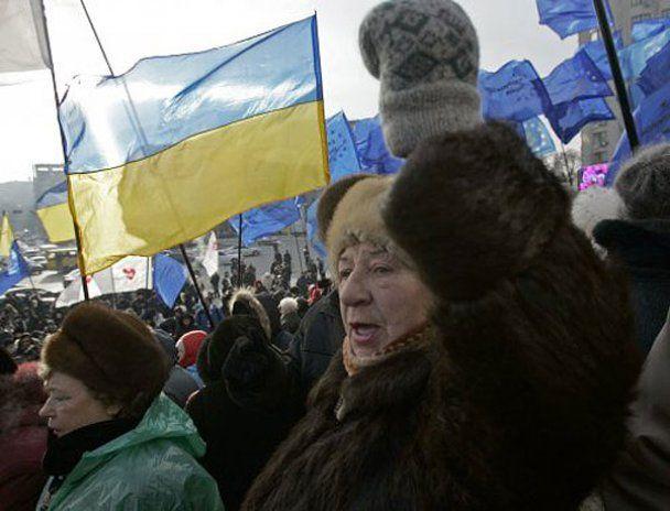 Мітингувальники зайняли Європейську площу в Києві