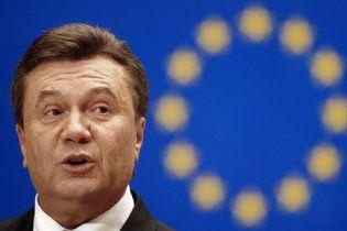 Янукович подтвердил, что от курса на Евросоюз не откажется