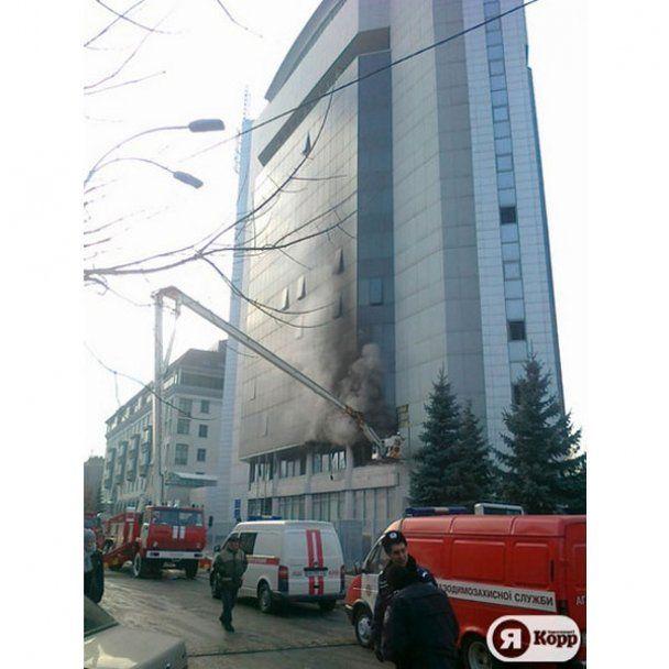 У Києві згоріла Податкова адміністрація