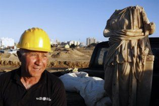 В Ізраїлі завдяки урагану виявлена статуя часів Римської імперії