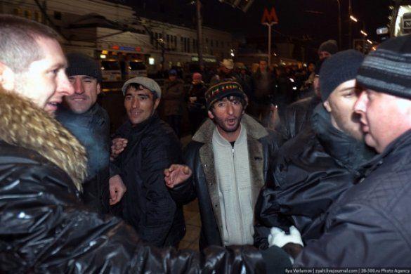 сутички у москві біля метро Киевская 15 грудня_2