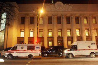 Під Радою сталася ДТП за участю авто МВС: 2 постраждалих