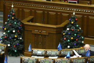 Верховну раду приготували до Нового року