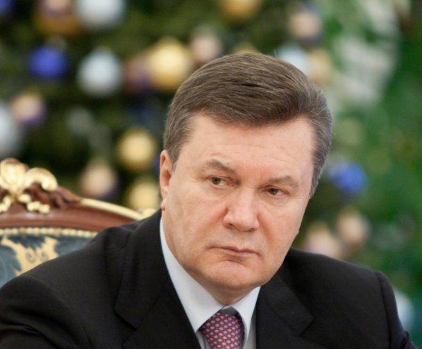 Новорічне привітання Януковича записали з шостого разу
