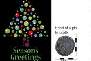 Шотландцы создали рождественскую нанооткрытку