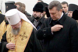На Рождественском богослужении Янукович назвал годы Ющенко худшими