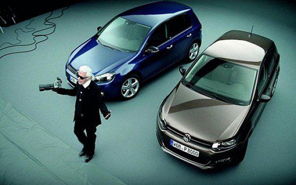 Карл Лагерфельд рекламує автомобілі