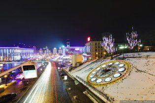 Святкування Нового року на Майдані незалежності. Відеотрансляція