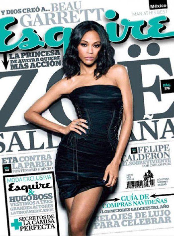 Сексуальна Зої Салдана знялась для Esquire