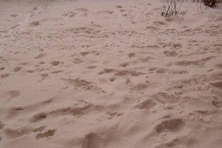 У Росії випав коричневий сніг