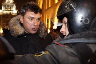 У Москві затримані учасники акції на підтримку Нємцова і Лімонова