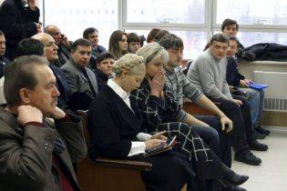 Тимошенко прийшла до суду підтримати Луценка