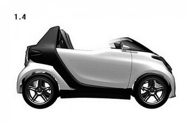 Smart створив маленький двомісний кабріолет
