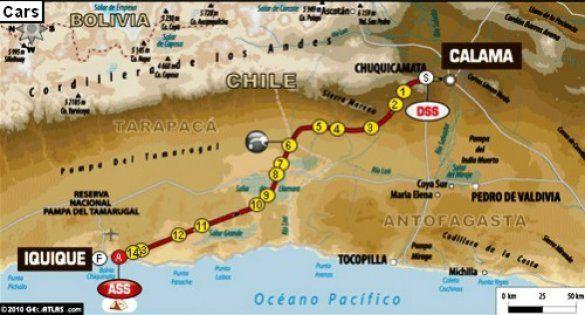 Карта 5-го етапу Дакару
