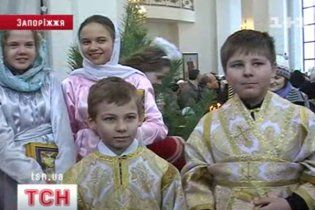 У Запоріжжі церковну службу правили діти