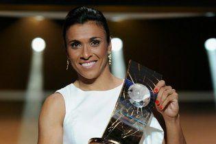 Марта вп'яте поспіль стала найкращою футболісткою світу