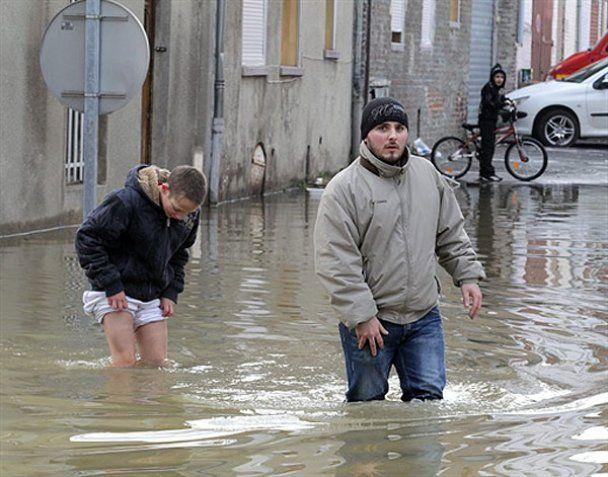 Західній Європі загрожують сильні повені