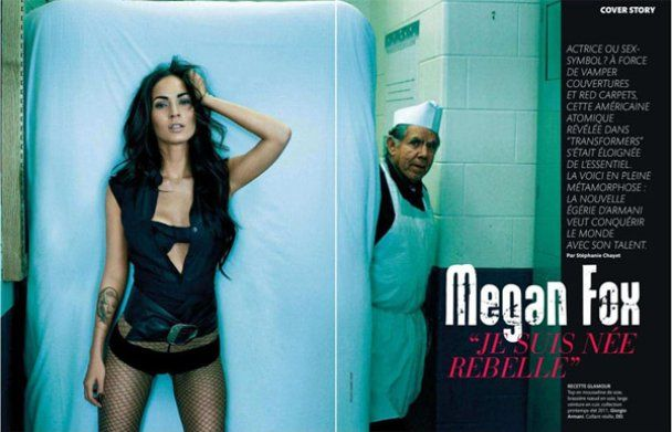 Меган Фокс, яку вигнали з Трансформерів, зніметься у Саші Барона Коена