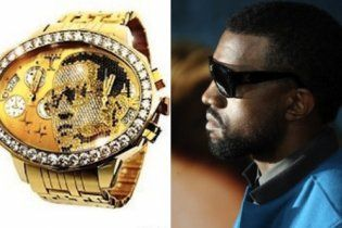 Канье Уэст купил бриллиантовые часы за 180 тысяч