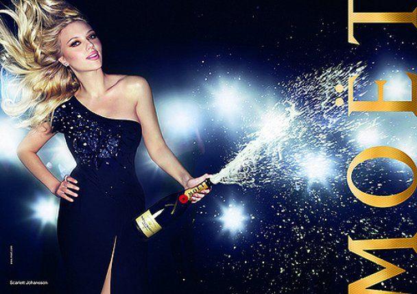 Скарлетт Йоханссон рекламирует шампанское