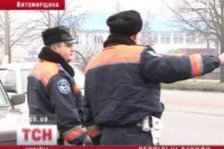 На Житомирщине пьяные водители избили инспекторов ГАИ