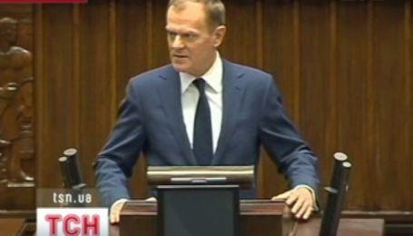 Польская оппозиция освистала премьер-министра