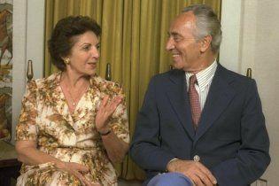 Померла дружина ізраїльського президента Шимона Переса