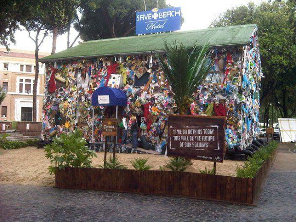 У столиці Іспанії побудували готель зі сміття