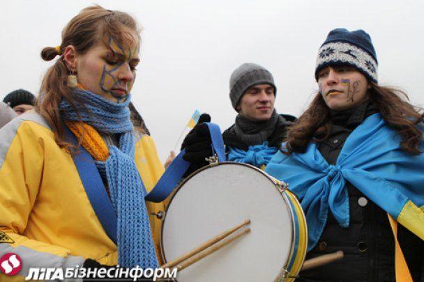 Прихильники Тимошенко мирно відсвяткували День соборності